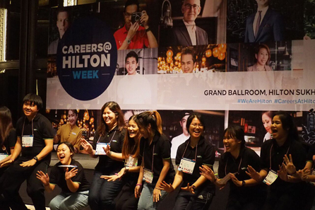 This initiative is a part of Hilton's Open Doors commitment, which aims to positively impact at least one million young people by 2019 by connecting them to opportunities in the hospitality industry, preparing them to reach their full potential or directly employing them. Credit: Hilton Hotels & Resorts
