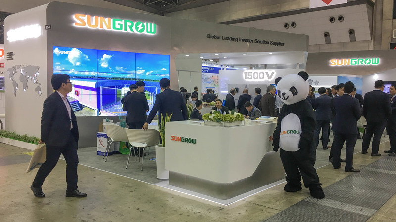 Sungrow Showcases 1500V String Inverter, ESS, and Floating PV System at PV Expo in Japan