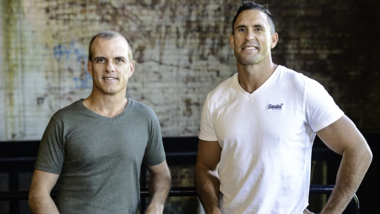 Travello creators Mark Cantoni and Ryan Hanly, who are now based in Brisbane.
