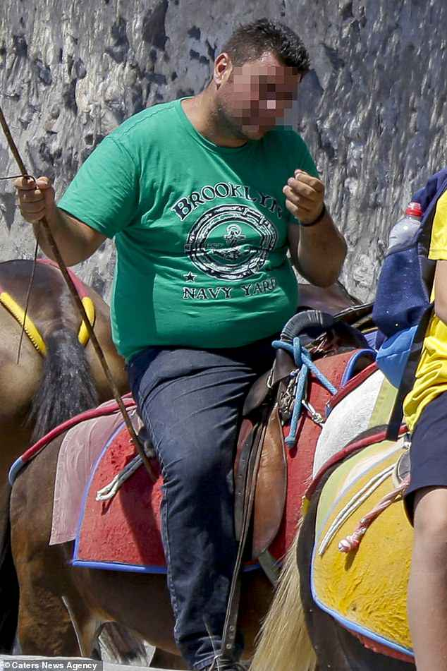 Santorini is known for its hilly terrain and donkeys have traditionally been used to transport people over the famously stepped areas which vehicles cannot access, such as in capital Fira