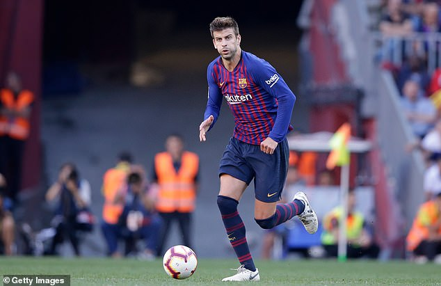 Gerard Pique has travelled more than any of Barcelona's internationals so far this season