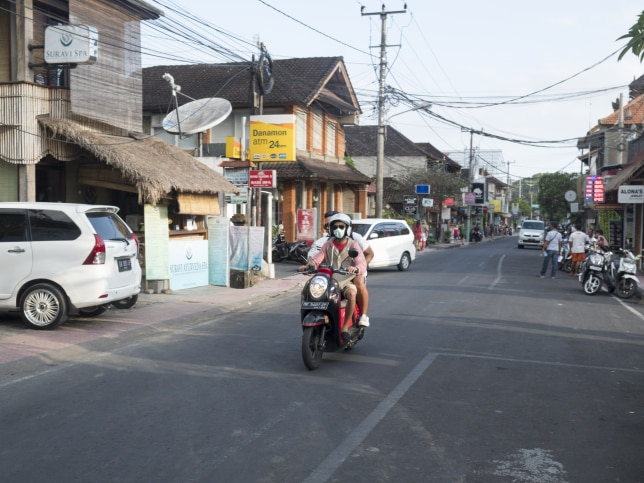 2. In Bali, I made the mistake of wearing flip-flops while driving a scooter bike. When my hand slipped on the throttle with my foot on the ground, it dragged and I ended up with a nasty cut.