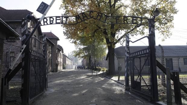 The entrance to Auschwitz (AP)