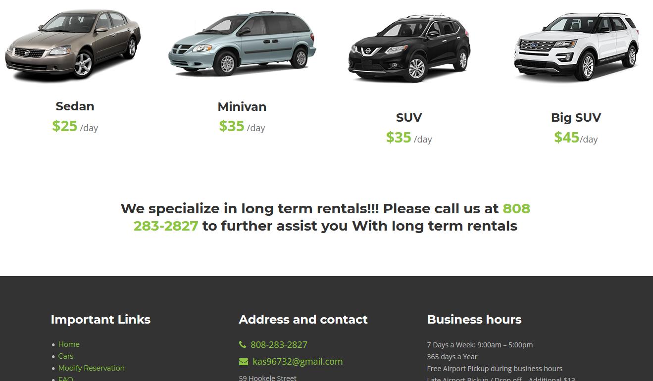 Best Car Rental Service In Maui