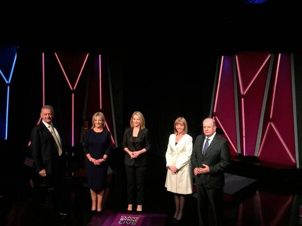 All candidates criticised President Michael D Higgins and Sean Gallagher for not turning up for the campaign's first live television debate