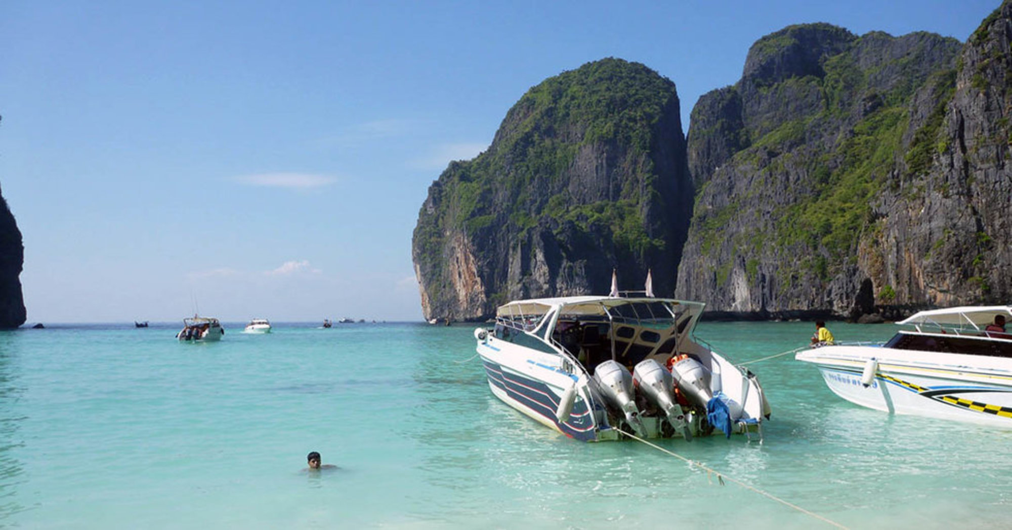 Thailand S Iconic Maya Bay Made Por By The Leonardo Dicaprio Film Beach Will Undoubtedly Be Closed To Tourists Indefinitely Cnn Travel Reported