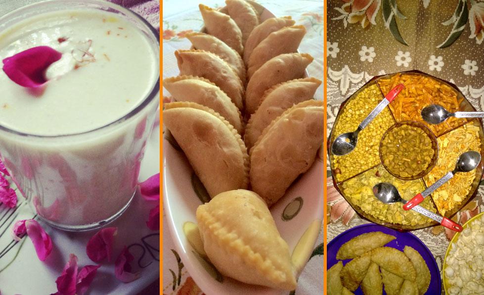 Holi food and drinks