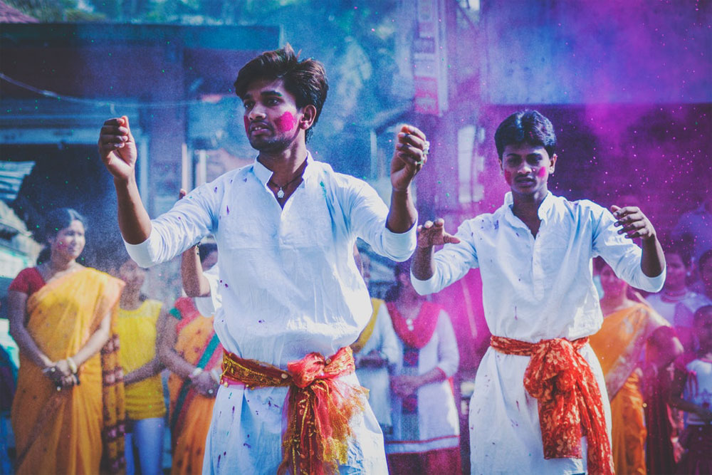 festival of colors West Bengal