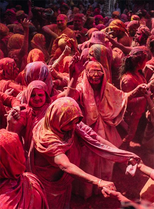 holi festival India Vrindavan