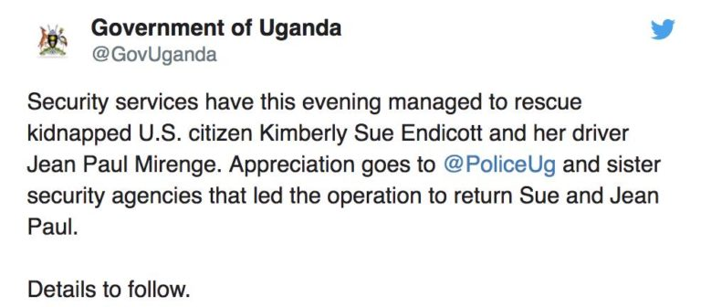 , Uganda Tourism  Chief: Kidnapped American tourist is safe – rescue completed, World News | forimmediaterelease.net