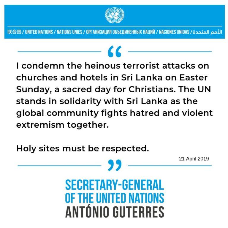 , Latest in the Sri Lanka wave of terror: Holy Sites must be respected, World News | forimmediaterelease.net