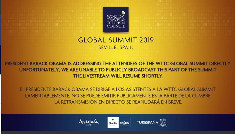 , WTTC Global Summit: President Obama was a disappointment for many, For Immediate Release   Official News Wire for the Travel Industry
